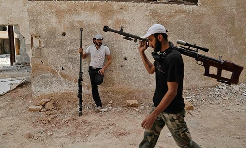 Rebel ambush kills 28 pro-govt fighters near Damascus
