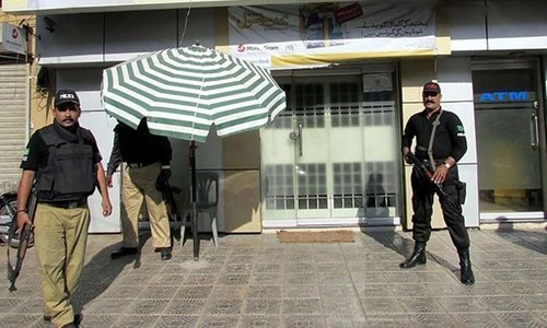 Robbers make off with Rs3m in year's fifth bank heist in Karachi