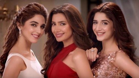 Mahira Khan, Mawra Hocane and Maya Ali embody glamour in the new Lux TVC