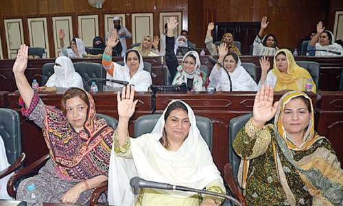 Nazim given 75pc of Peshawar's girls education funds