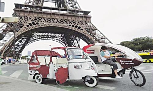 Pollution-free rickshaws taking  over Paris