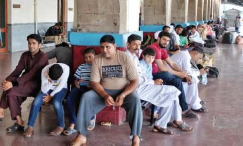 Railway workers' strike disrupts train service