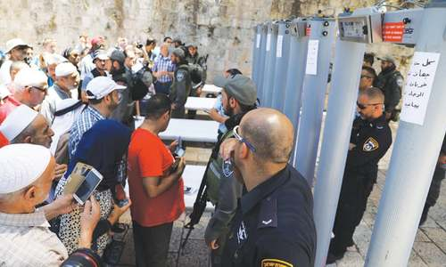 The issue with metal detectors in Jerusalem
