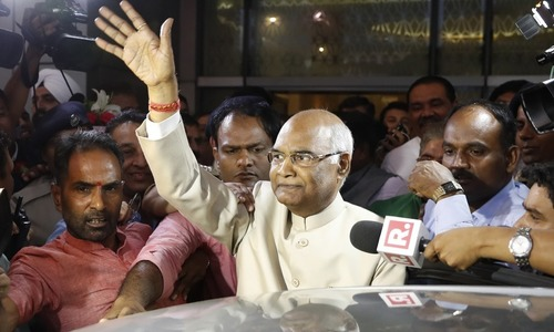 Low-caste Hindu leader Kovind sworn in as India's president