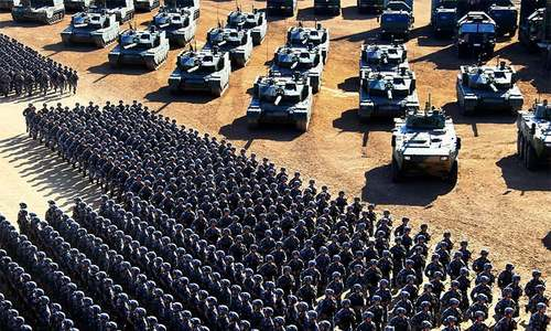 In pictures: China's 'world class' army holds military parade to mark 90th anniversary