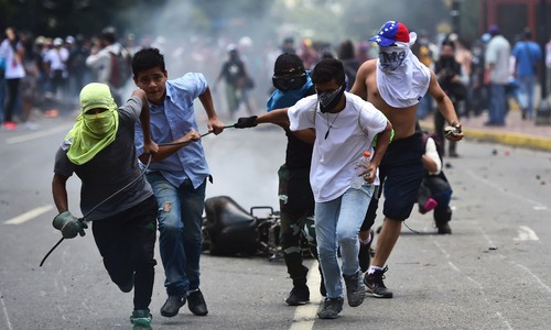 Opposition protests Maduro's 'sham' election victory in Venezuela