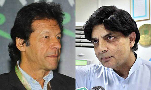 Imran, Nisar in 'chance encounter' at Islamabad restaurant