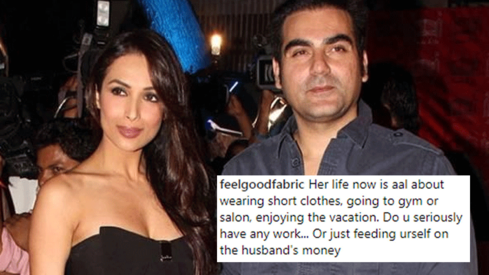 Malaika Arora Khan slams hater for calling her a gold digger