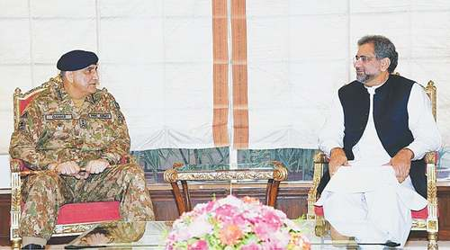 Abbasi meets COAS amid looming political uncertainty