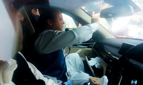 Nawaz responds to his supporters at Sohawa