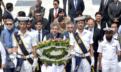 Abbasi visits Karachi on maiden trip as prime minister