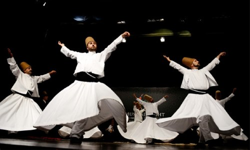 A mesmerising performance by Turkish dervishes