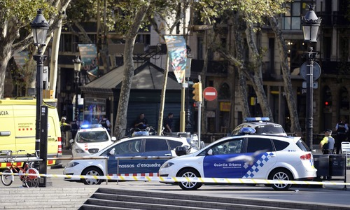 At least two dead as van rams into pedestrians in Barcelona