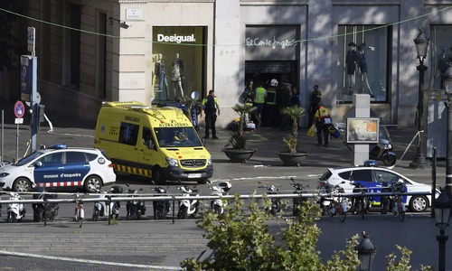 At least 13 dead as van rams crowd in Barcelona 'terror attack'