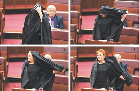 Muslim-baiter politician wears burqa in Australia's Senate