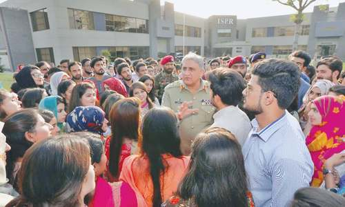Bajwa urges students to be wary of hostile talk on social media