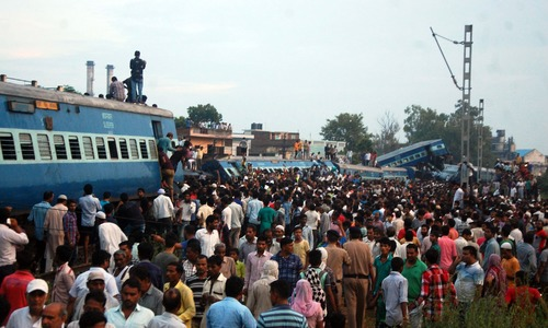At least 23 dead, dozens hurt as train derails in India
