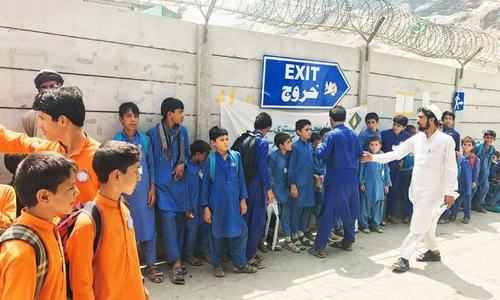 The Afghan students who come to Pakistan for school every day