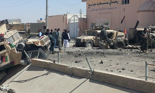 Taliban suicide bomber targets military convoy in Helmand, 4 soldiers killed
