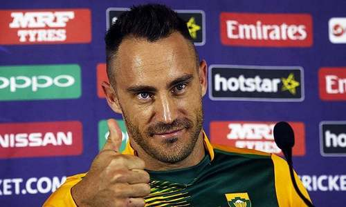 Faf du Plessis to captain World XI: PCB official