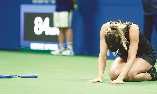 Sharapova ousts Halep on Grand Slam return at US Open