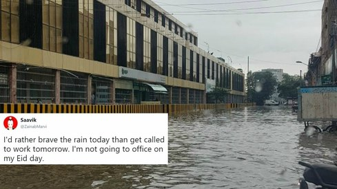 These tweets prove Karachi can't get over last night's heavy rain