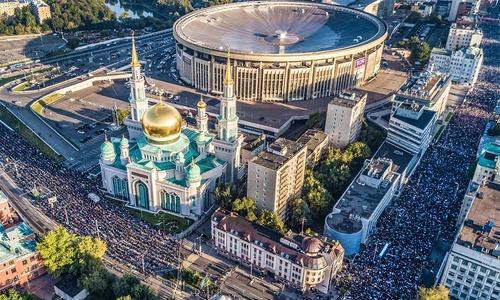 In pictures: Muslims celebrate Eidul Azha around the world