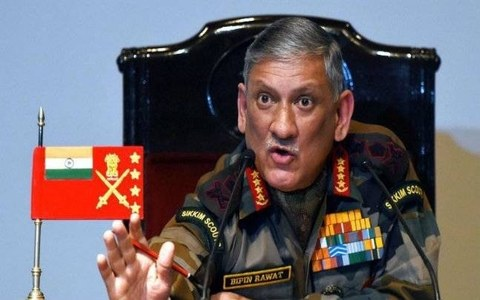 Two-front war with Pakistan and China cannot be ruled out: Indian army chief
