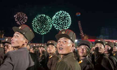 North Korea celebrates nuclear test with fireworks, mass rally