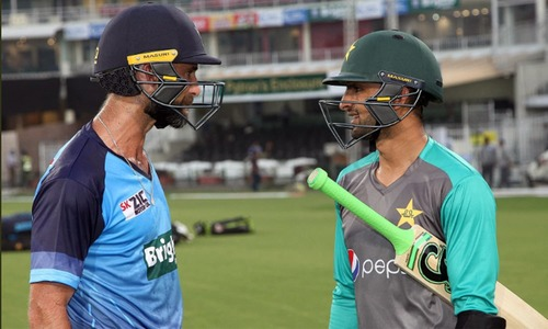 In pictures: Pakistan, cricket stars prepare for World XI series in Lahore