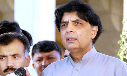 Why Chaudhry Nisar gets an 'F' for his performance as interior minister