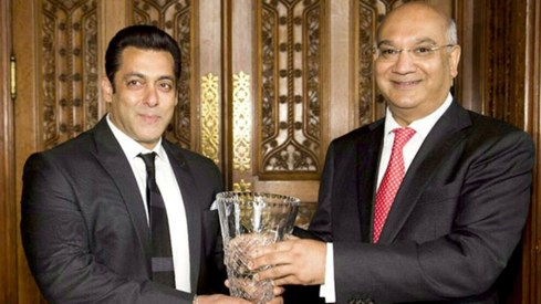 Salman Khan receives Global Diversity Award at Britain's House of Commons