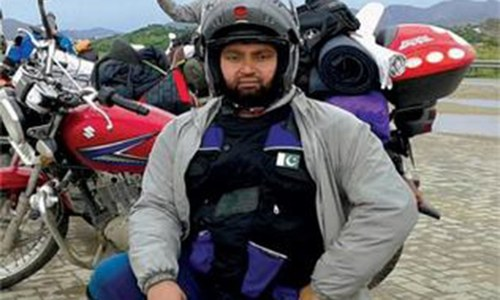 A biker tourist from Lahore