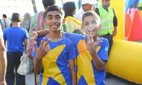 Race organised for differently abled kids to encourage inclusion in playground
