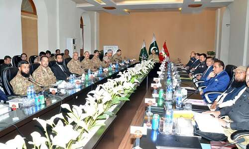 Civil-military huddle reviews Muharram security arrangements for Karachi