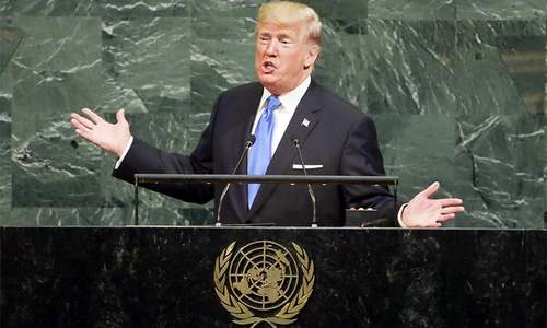 At UNGA, Trump threatens 'total destruction' of N. Korea