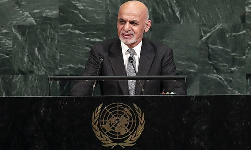 Afghan president at UN urges dialogue with Pakistan to curb extremism