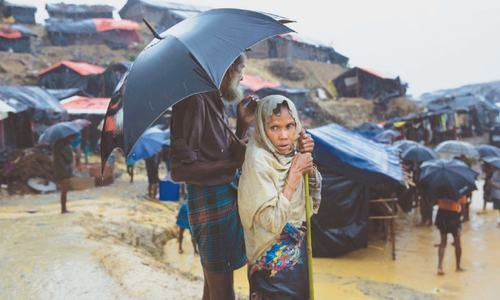 BD army steps up as Rohingya suffer heavy rain
