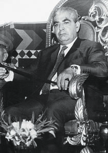 A grim Yahya Khan at a function during his dictatorship that lasted from March 25, 1969, to December 20, 1971. | Photo: Dawn/White Star Archives