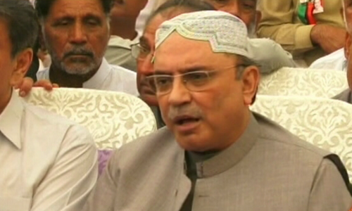 If he is so brave, Musharraf should return and face the courts: Zardari