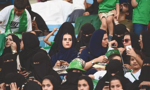 Women allowed into stadium as Saudi Arabia marks national day