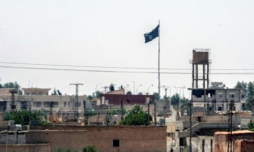 Police groping in dark over Daesh flag