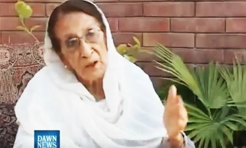 Pak movement veteran Fatima Sughra dies at 86