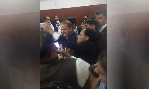 Nawaz appears before NAB court, bailable arrest warrants issued for Sharif children