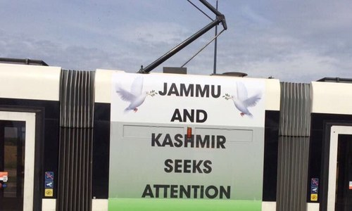 'Jammu and Kashmir seeks attention' posters appear in Geneva