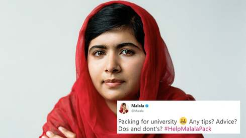 Malala asked for packing tips for Oxford. How did Twitter respond?