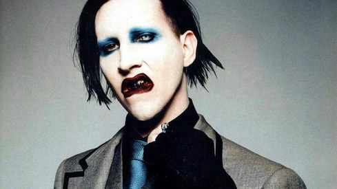 Marilyn Manson injured mid-concert after stage prop topples on him