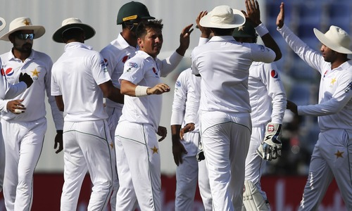 First Test: Pakistan manage to stay on top thanks to Haris, Yasir