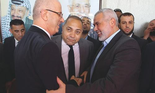 Palestinian PM visits Gaza in reconciliation move with Hamas