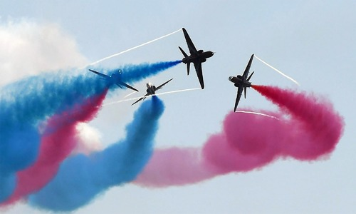 PAF's Thunder, UK's Red Arrows' joint airshow enthrals spectators